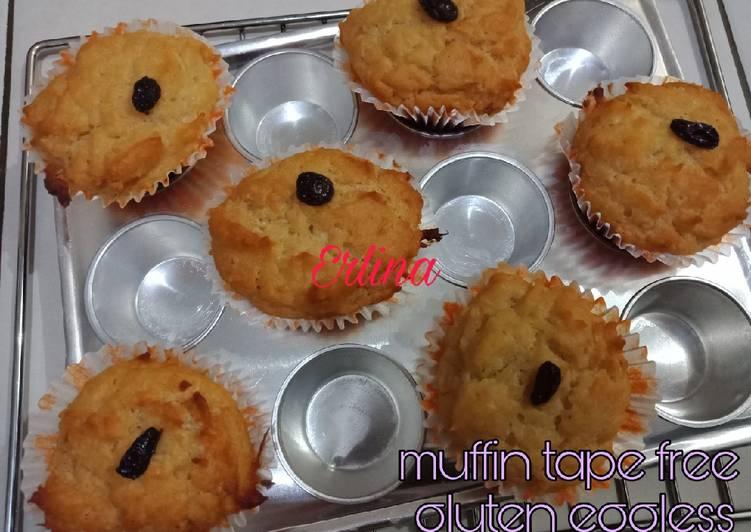 Resep Muffin Tape Free Gluten Eggless, simple dan empuk
