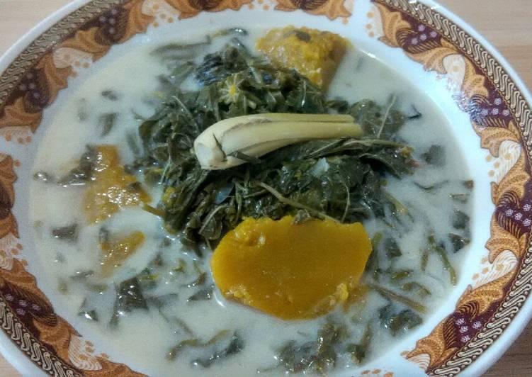 Resep Sayur santan daun singkong dan labu kuning
