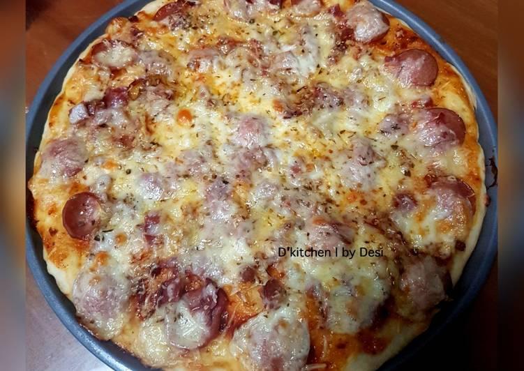 Resep Pizza homemade (no knead dough)