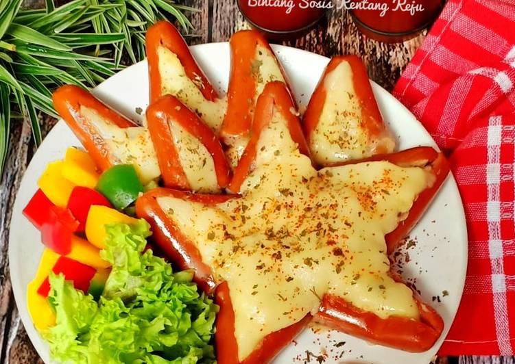 Resep Sosis Bintang kentang keju