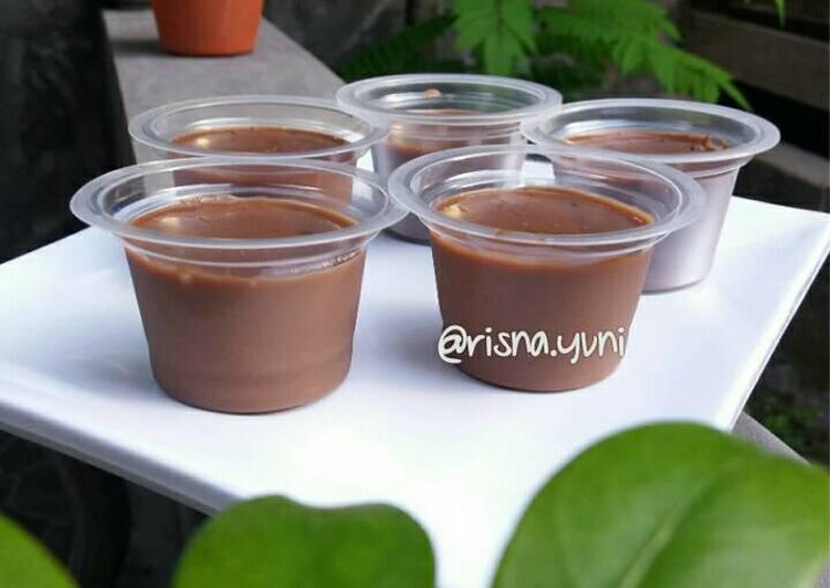 Resep Silky Puding Coklat