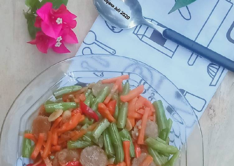 Resep Tumis buncis wortel bakso