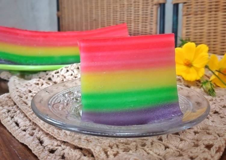 Resep Lapis rainbow