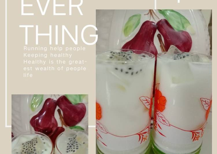 Resep Jelly Potter leci mix yakult