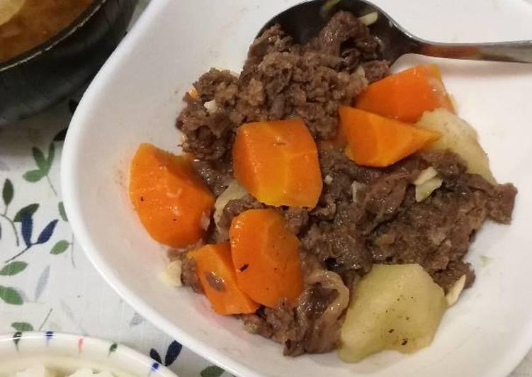 Resep Daging Sapi tim Wine aroma bawang putih