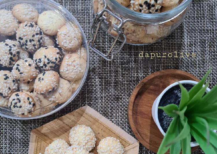 Resep Kue Keju Wijen (Gluten Free) Sesame Cheese Cookies