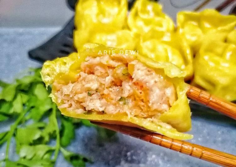 Resep Pangsit Ayam Udang (cemilan)