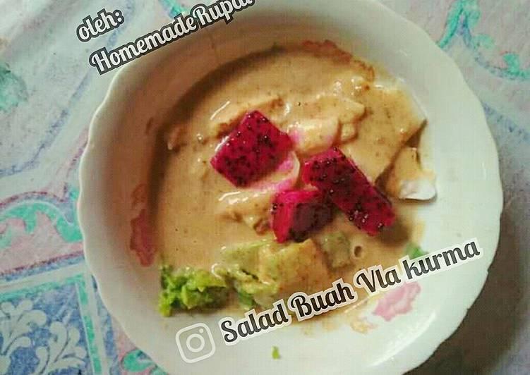 Resep Salad buah saus kurma