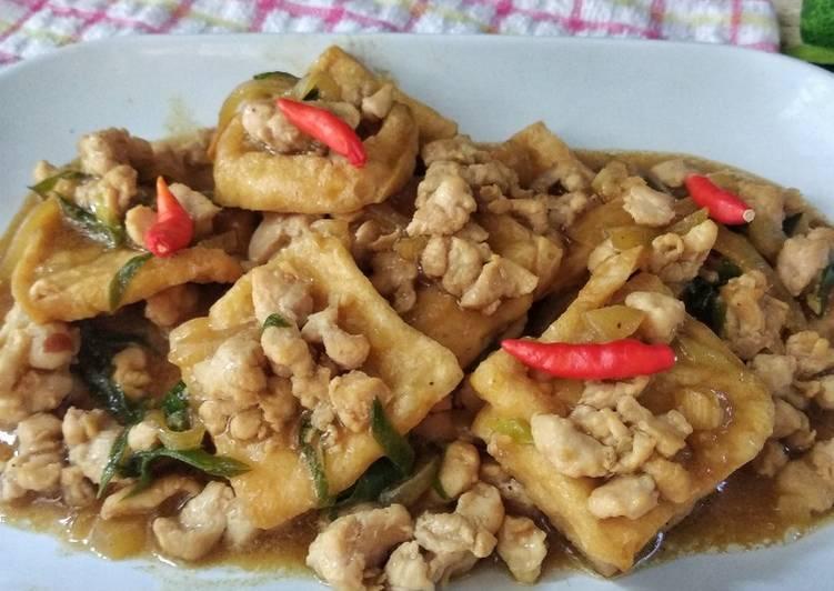 Resep Tahu Ayam Cincang