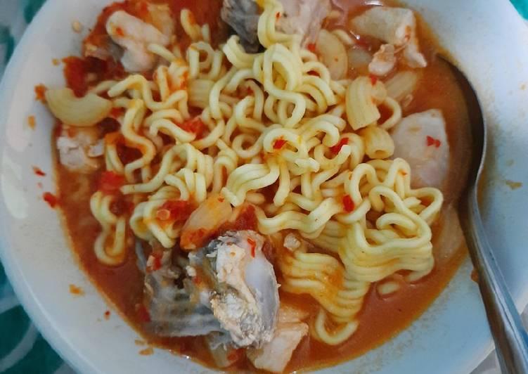 Resep Seblak mie macaroni ayam