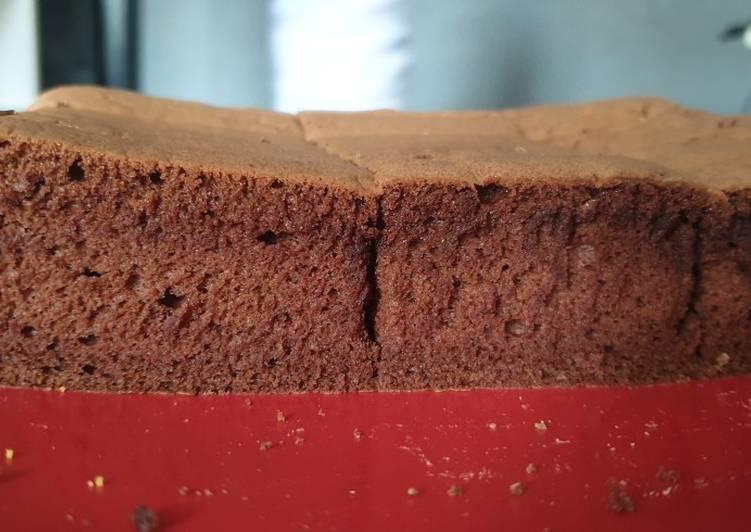 Resep Sponge cake coklat metode all in one