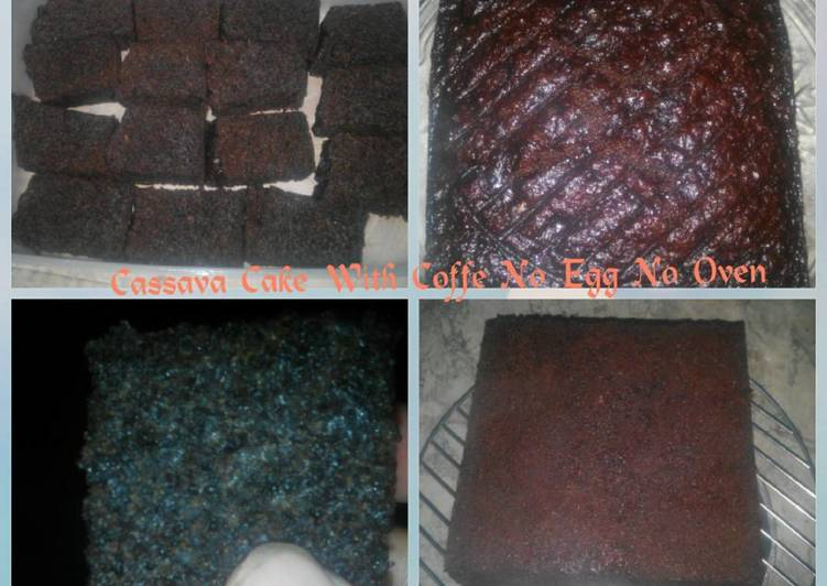 Resep Cake Singkong Dgn Kopi - Eggless - No Oven