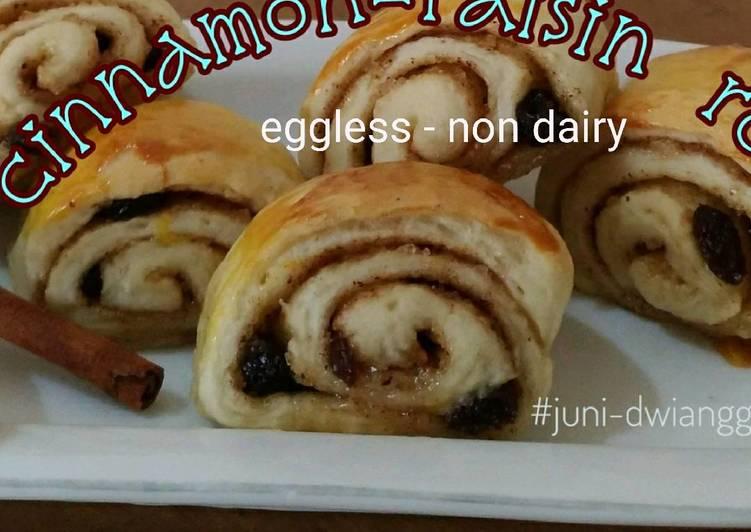 Resep Cinnamon Raisin Roll (eggless - non dairy)