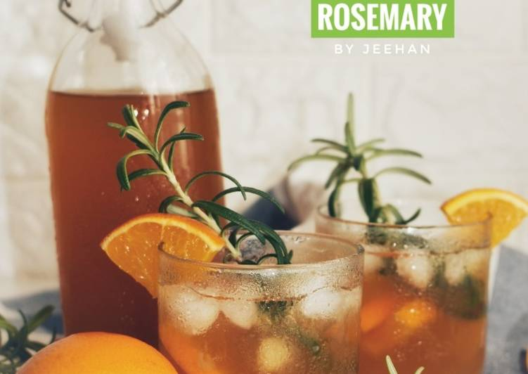 Resep Ice Tea ORANGE ROSEMARY