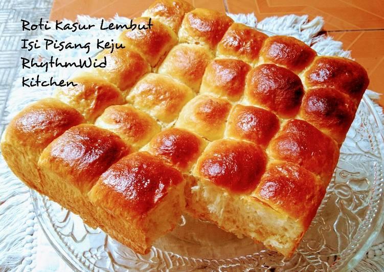 Resep Roti Kasur Lembut Isi Pisang Keju