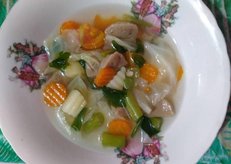 Resep Sayur sop baso