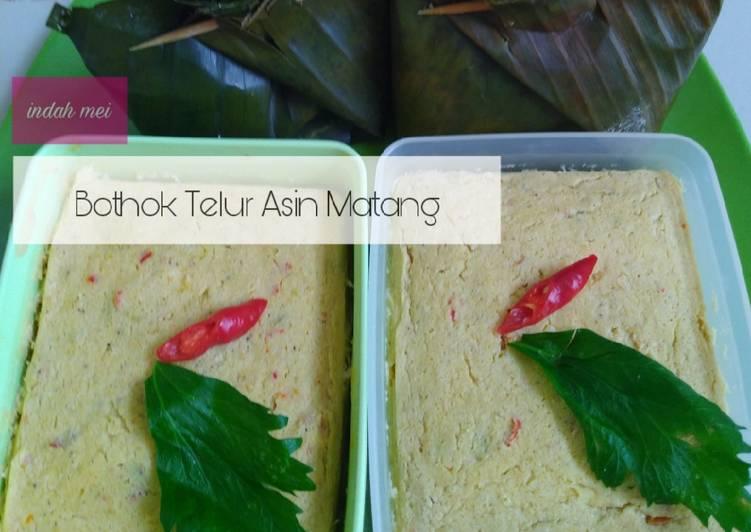 Resep Bothok Telur Asin Matang