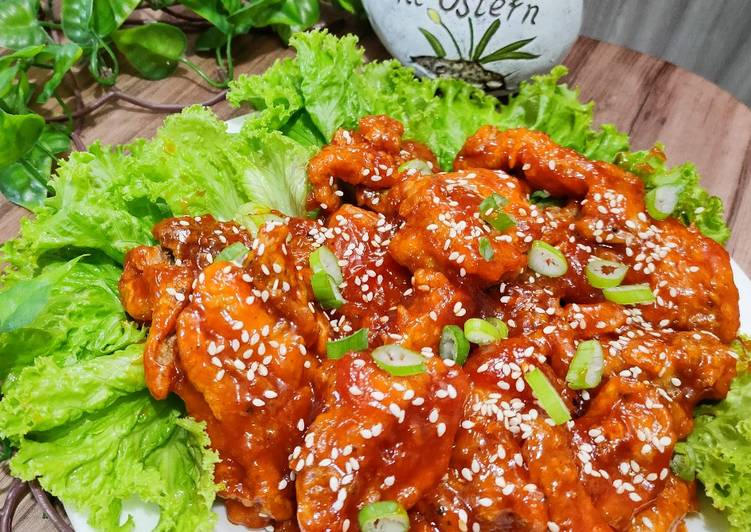 Resep Korean Fried Chicken ~ Yangnyeom Tongdak