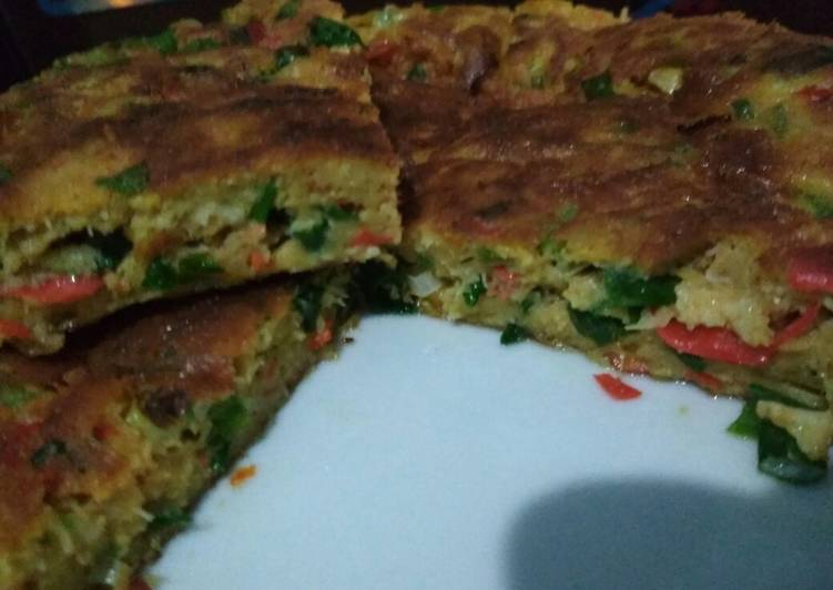 Resep Telur dadar padang (tetep kokoh ga mimpes)