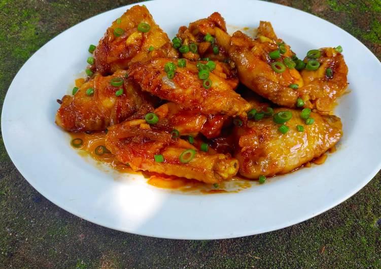 Resep Sayap ayam pedas manis