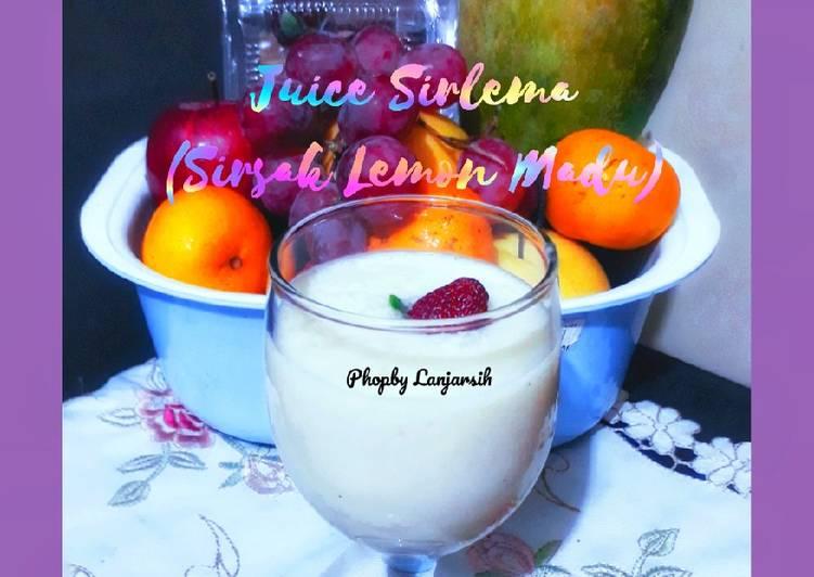 Resep Juice Sirlema (Sirsak Lemon Madu)