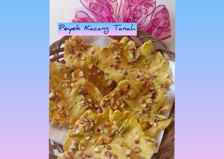 Resep Peyek kacang tanah renyah & gurih