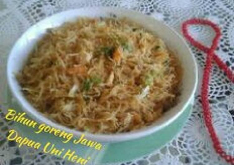 Resep Bihun goreng Jawa