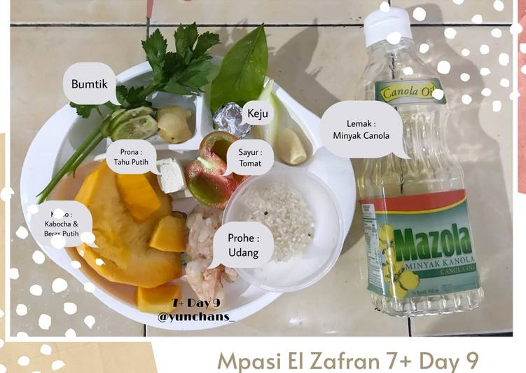 Resep Mpasi Day 9 : Bubur Kabocha Udang Tahu