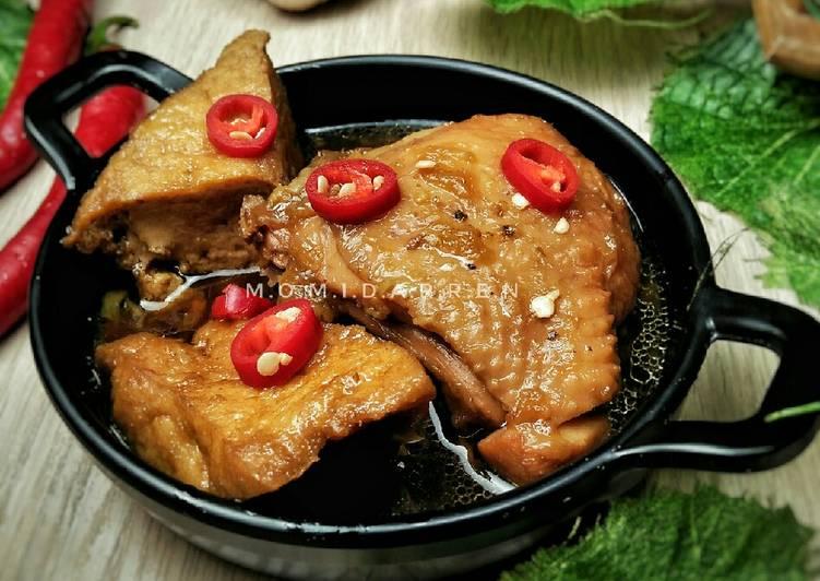Resep Ayam Tahu Bumbu Kecap