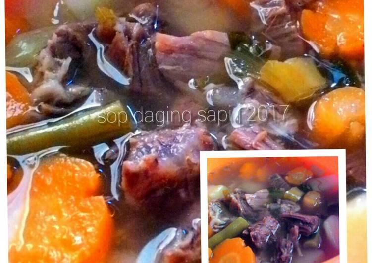 Resep Sop daging sapi #KitaBerbagi