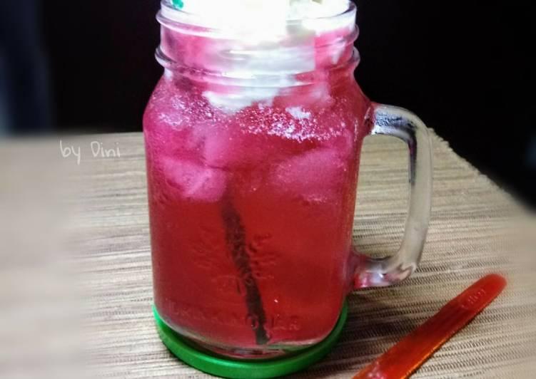 Resep Strawberry Float #ketopad #kamismanis