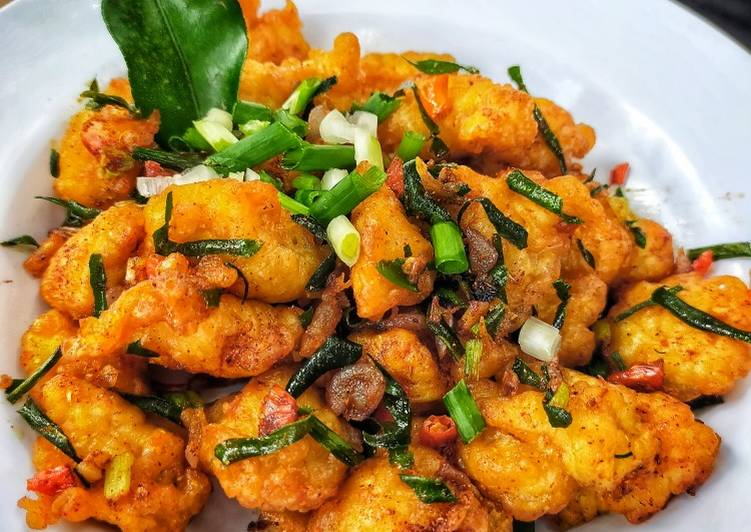 Resep Ayam Popcorn Gr. Bawang Daun Jeruk