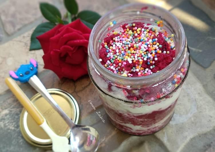 Resep Eggless Red Velvet Cake In Jar