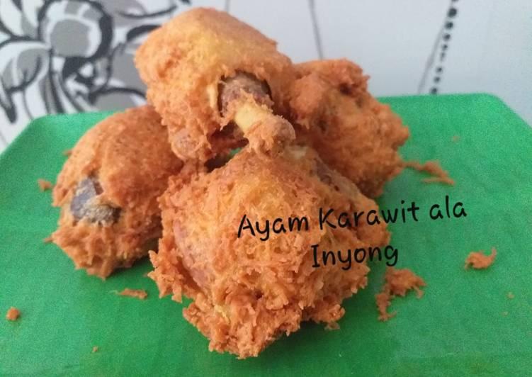 Resep Ayam karawit ala inyong
