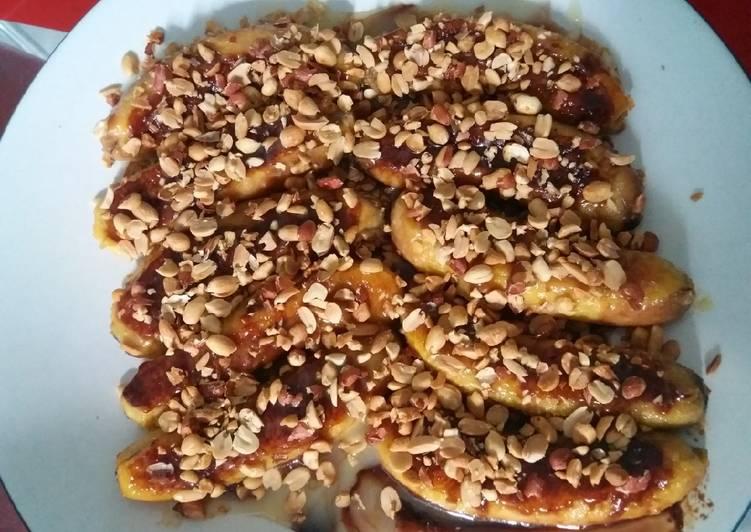 Resep Pisang panggang kacang