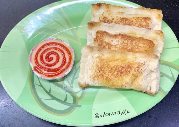 Resep Ropang Sosis Mozza (roti panggang)
