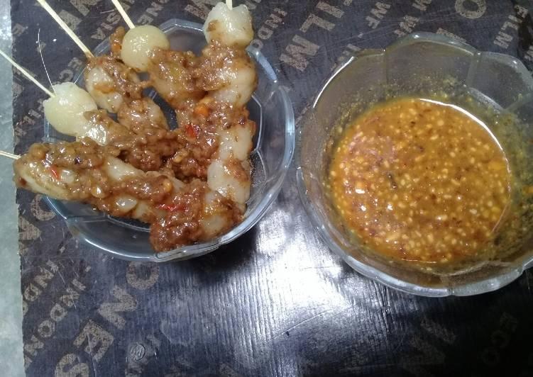 Resep Sate cilok bumbu kacang