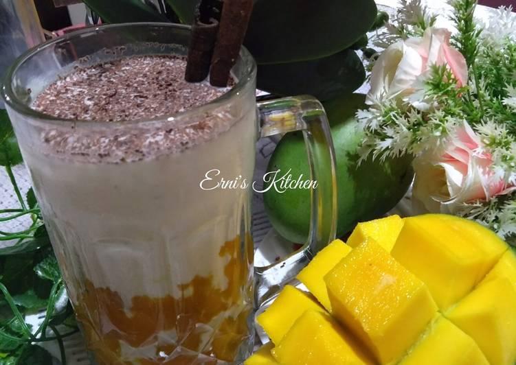 Resep Korean fresh Mango Milk