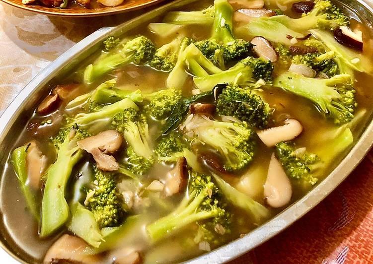 Resep Brokoli cah jamur