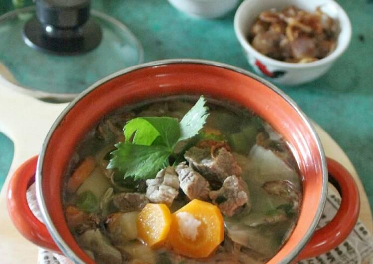 Resep Sop daging sayuran