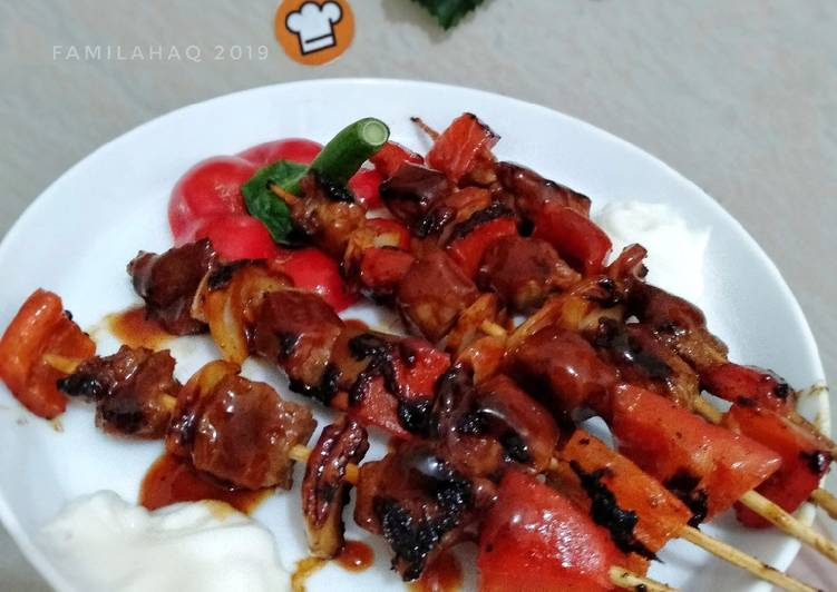 Resep Sate Sapi Barbeque