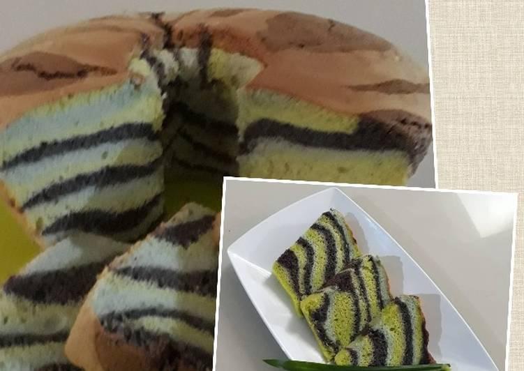 Resep Zebra chiffon cake