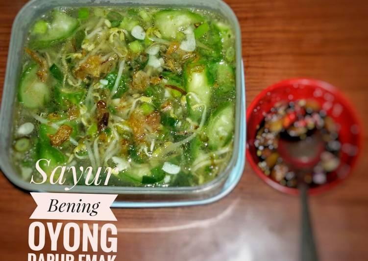 Resep Oyong Masak Bening
