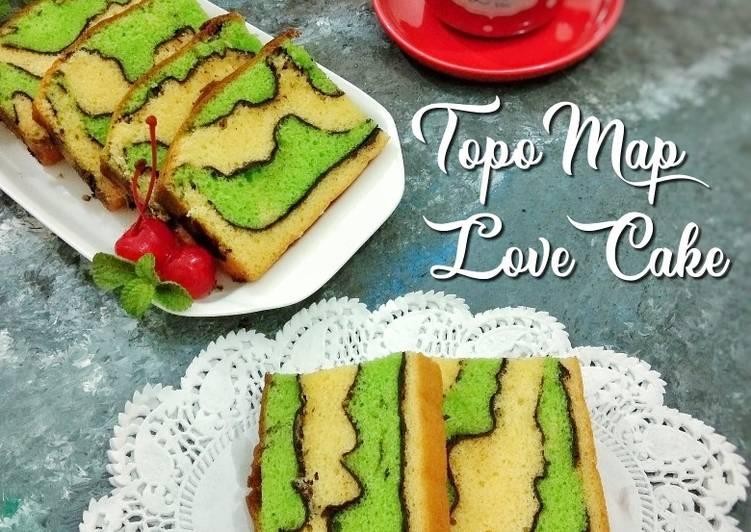 Resep 48.Topo map love cake