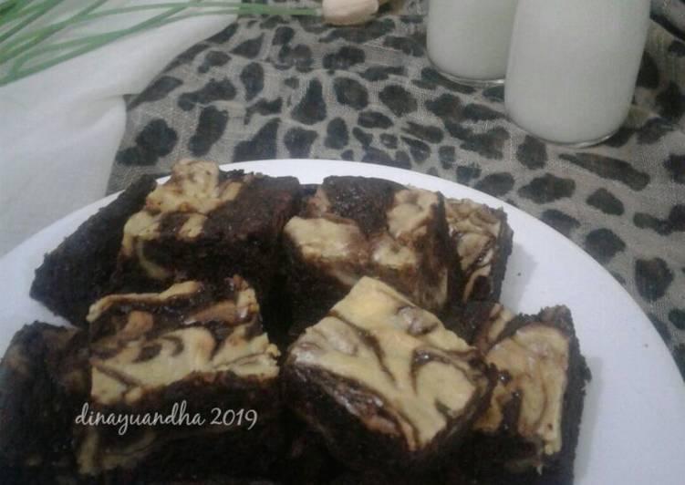 Resep Brownies Cream Cheese