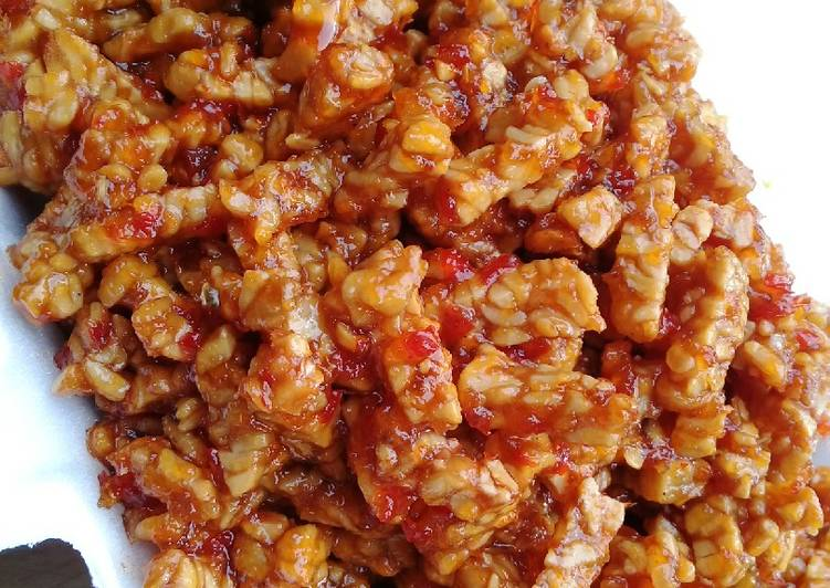 Resep Kering tempe simple (pelengkap nasi kuning)