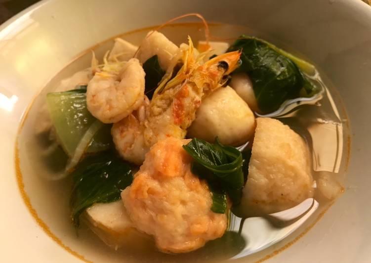 Resep Suki Tomyam udang seafood