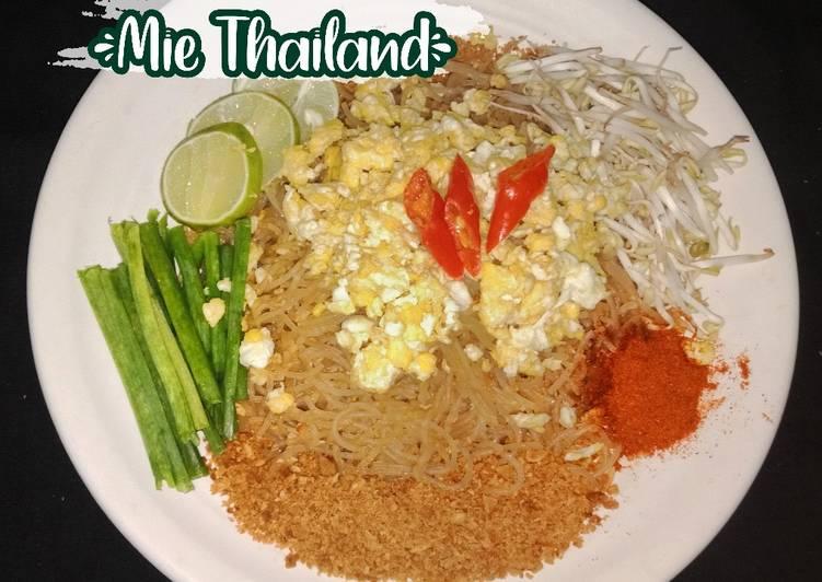 Resep PAD THAI, Mie Thailand (dengan bahan Indonesia)