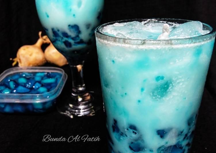 Resep Es blue safir