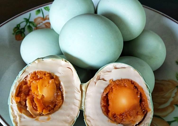 Resep Telur asin bawang